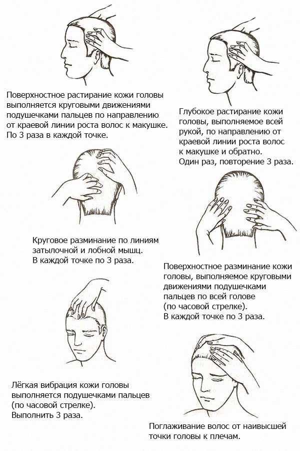 Приемы массажа головы
