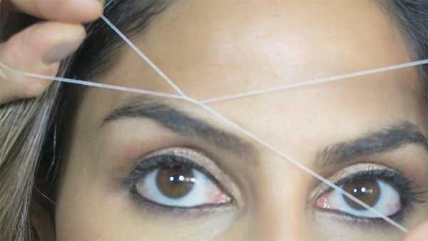 Удаление волос нитью фото 8